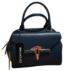 Cromia Leather Satchel in Blue