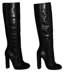 Tom Ford Black Leather Suede Boots