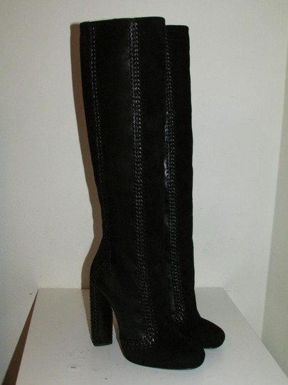 Tom Ford Black Leather Suede Boots Image 1