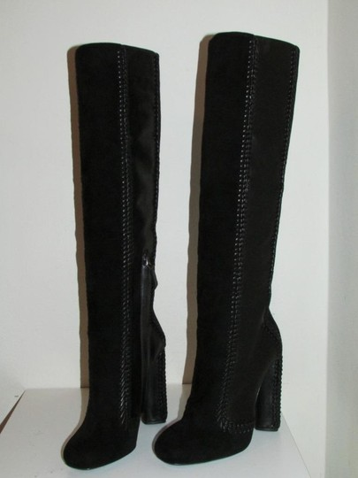 Tom Ford Black Leather Suede Boots Image 11