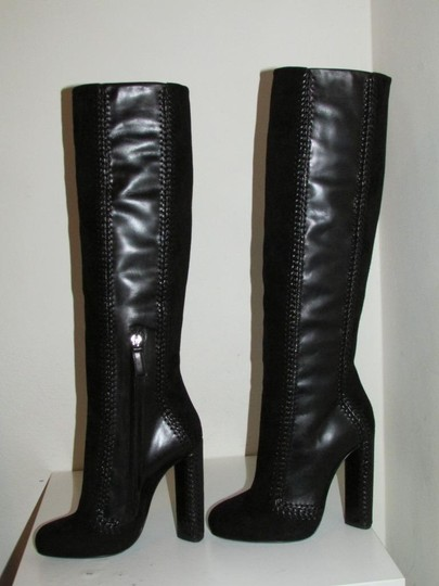 Tom Ford Black Leather Suede Boots Image 2
