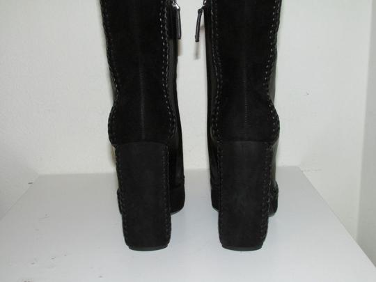 Tom Ford Black Leather Suede Boots Image 3