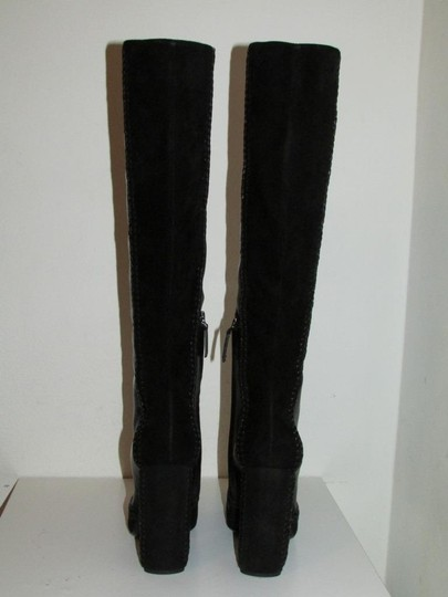Tom Ford Black Leather Suede Boots Image 4