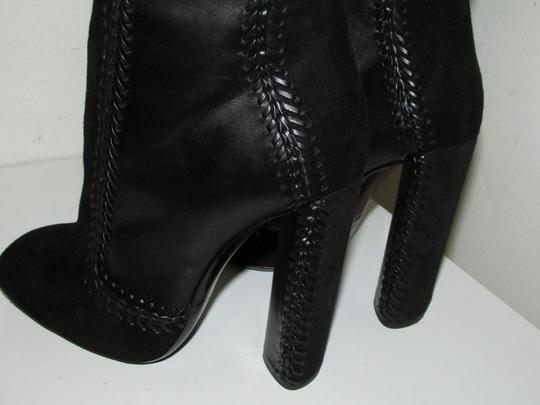 Tom Ford Black Leather Suede Boots Image 6