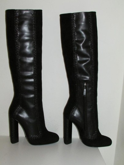 Tom Ford Black Leather Suede Boots Image 9