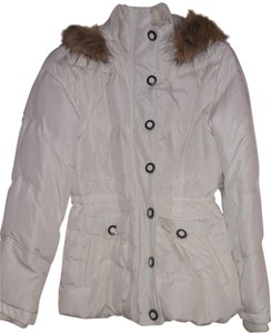 New York & Company Puffer Jacket Hooded Coat