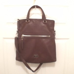 Fossil Travel/weekend Leather Handbag Tote/hobo Cross Body Bag