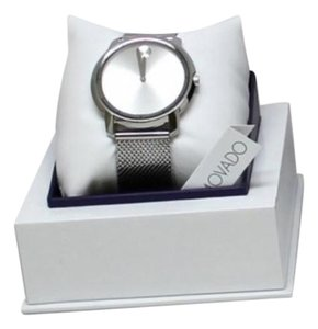 Movado Silver Stainless Steel Mesh Bracelet Designer Casual Watch