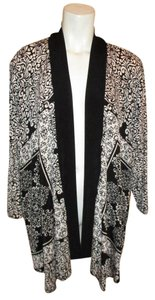 Chico's Knit Cardigan black & white Jacket