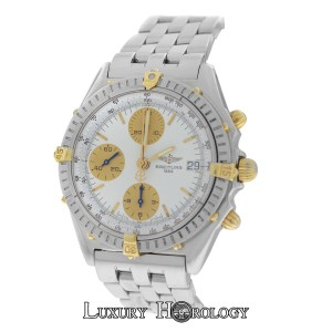 Breitling Men's Breitling Chronomat B13048 Stainless Steel Gold Chrono
