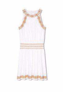 Tory Burch short dress New Ivory White Oxford Embroidered Smock on Tradesy