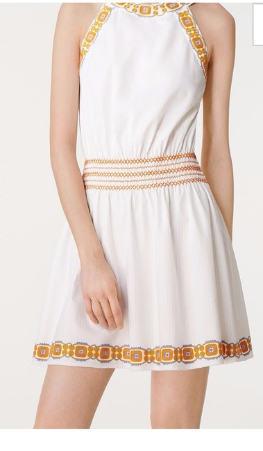 Tory Burch short dress New Ivory White Oxford Embroidered Smock Dryclean Only on Tradesy Image 1