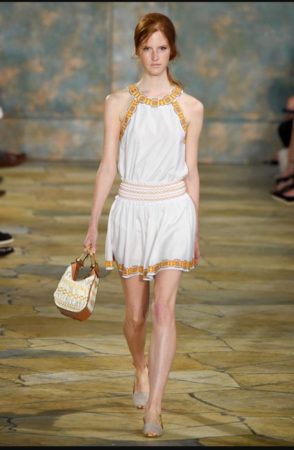 Tory Burch short dress New Ivory White Oxford Embroidered Smock Dryclean Only on Tradesy Image 7