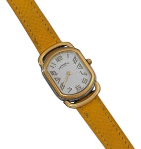 Hermès Hermes Midsize Rallye Ladies Watch - 18K Gold Plated & Stainless Steel