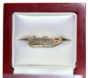 10K YELLOW GOLD I LOVE (HEART) YOU OPEN RING, Size 6.5