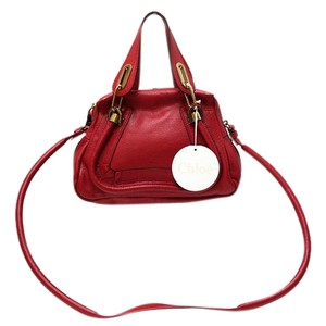 Chloé Cross-body Hobo Togo Leather Red Messenger Bag