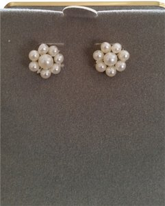 Macy's Pearl flower earrings
