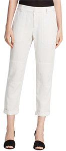 Vince Crops Skinny Off White Slacks Work Wear Capri/Cropped Pants Cream
