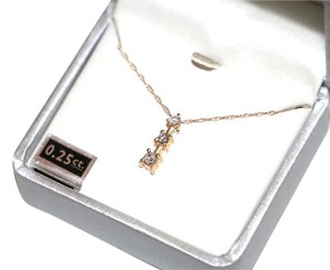 Other .25 CT DIAMOND PENDANT NECKLACE 14K YELLOW GOLD WITH CHAIN