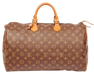 Louis Vuitton Monogram Speedy Speedy 40 Travel Satchel in Brown