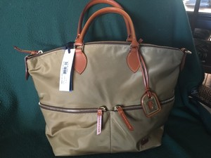 Dooney & Bourke Lightweight Ballistic Nylon Satchel in Khaki