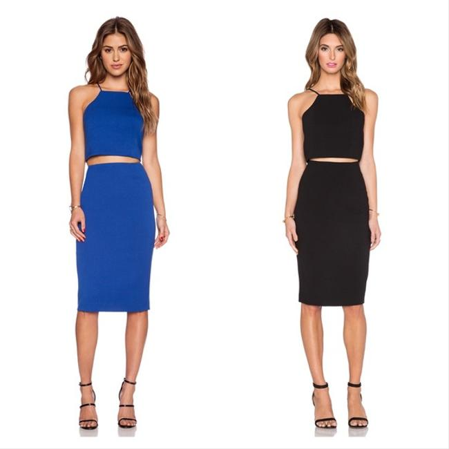 Black Halo Two-tone Two Piece Dress Image 1
