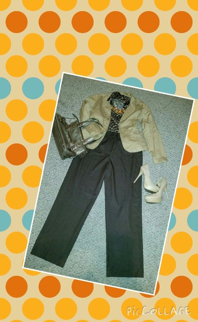 Cato Wide Leg Pants Brown Image 2
