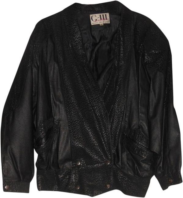 Item - Black And Suede Small S Jacket Size 4 (S)
