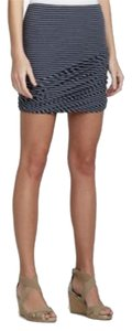 BCBGMAXAZRIA Striped Mini Skirt Navy and white