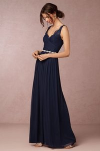 BHLDN Navy Nylon Tulle Lace; Polyester Lining Fleur Bridesmaid/Mob Dress Size 6 (S)