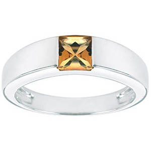 Other JewelryNest 14k Solid 14k Tank Square Citrine Ring
