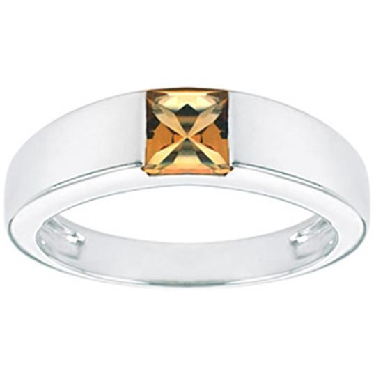 Other JewelryNest 14k Solid 14k Tank Square Citrine Ring Image 0