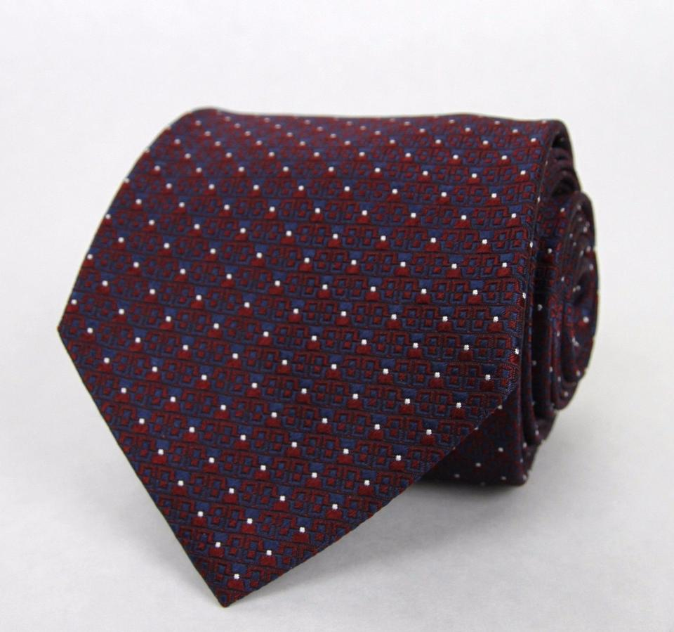 e4435b4b6881 Gucci Multi-color Men's Red Blue Silk Neck with White Dot Print 351833 6468  Tie/Bowtie