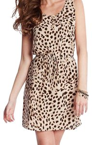 Guess short dress Cheetah/Black on Tradesy