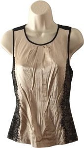 bebe Top Beige and Black