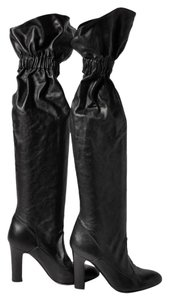 Jill Stuart Slouchy Leather Black Boots