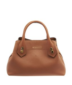Burberry Barnsbury Tan Leather Satchel in Brown