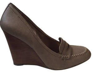 BCBG Paris Taupe Wedges
