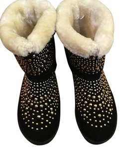 Ice Black with gold and silver studs Boots