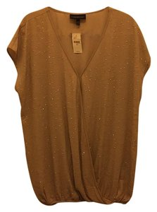 Lane Bryant Top Tan with gold