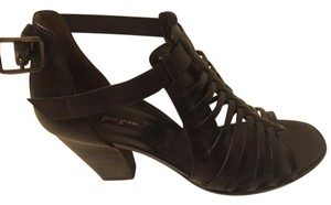 Paul Green Leather Sandal Strappy Black Sandals