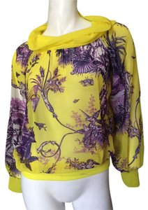 Jean-Paul Gaultier Jean Paul Gaultier Gaultier Gaultier Gaultier Printed Yellow Top