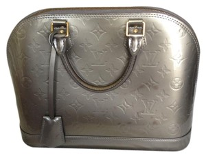Louis Vuitton Alma Vernis Satchel in Grey,m,mmm