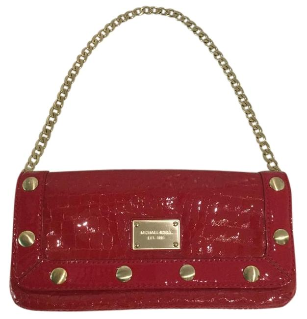 Item - Mock Croc Red Patented Leather Baguette