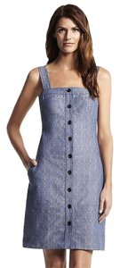 Derek Lam short dress Blue Denim Tank on Tradesy