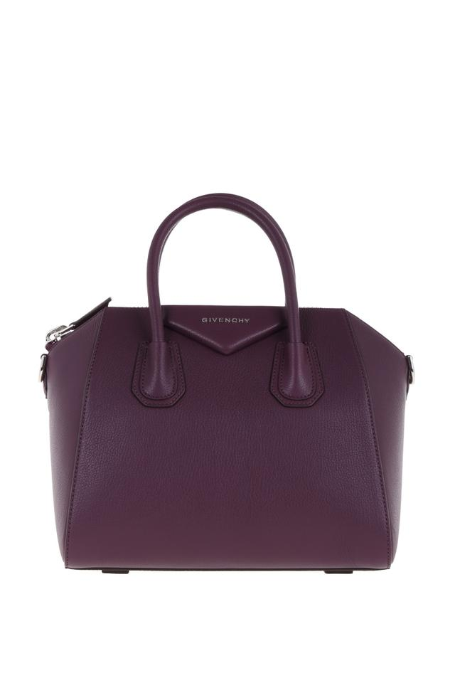 a19ae21dd7db Givenchy Small Antigona In Grained Plum Leather Satchel - Tradesy