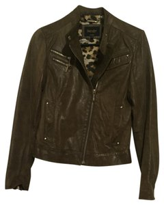 Laundry by Shelli Segal Olive Leather Jacket