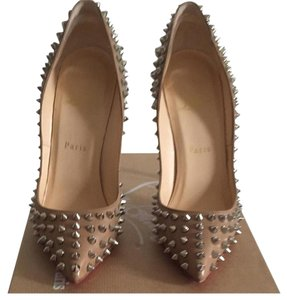 Christian Louboutin Nude silver Pumps