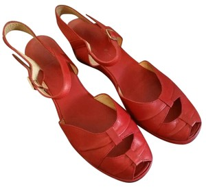 Remix Vintage Rockabill Pin-up red Wedges