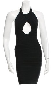 Hervé Leger Herve Bandage Dress Top Black